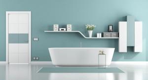 Blue moder bathroom